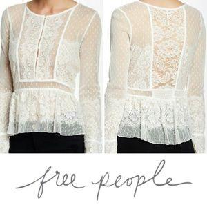 Like new Free People Penelope Peplum top